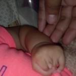 newborn's hand ABS